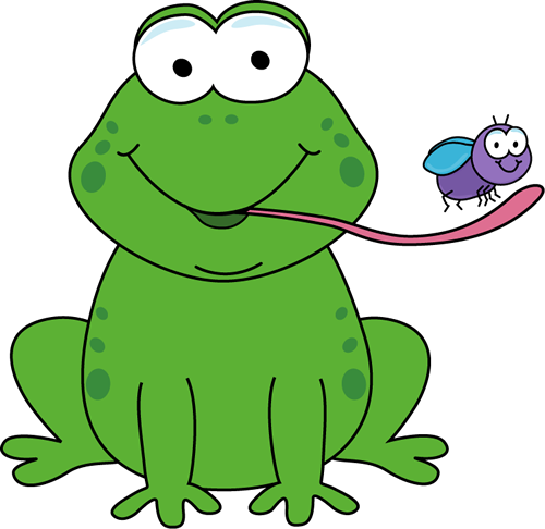 frog drawings | Frog Eating a Fly Clip Art Image - cartoon ...