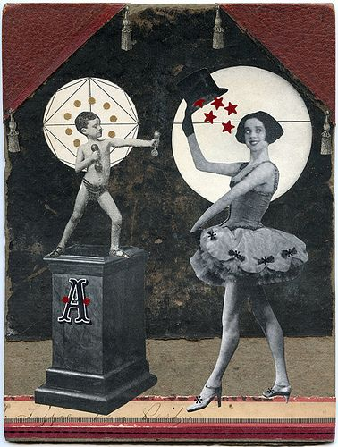 In the Spotlight, 2012.  Collage by Angelica Paez.
