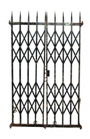 Pair Of Antique Wrought Iron Folding Gates Antique Iron Wrought Antiques
