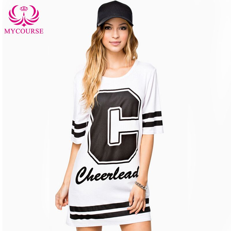 Find More Dresses Information about MYCOURSE Casual Women Round Neck Short Sleeve Printing Letter C Print Dress Black Stripe Tee Style Casual Loose Dress,High Quality dresses for graduation party,China dress front Suppliers, Cheap sleeve sequin dress from MYCOURSE on Aliexpress.com
