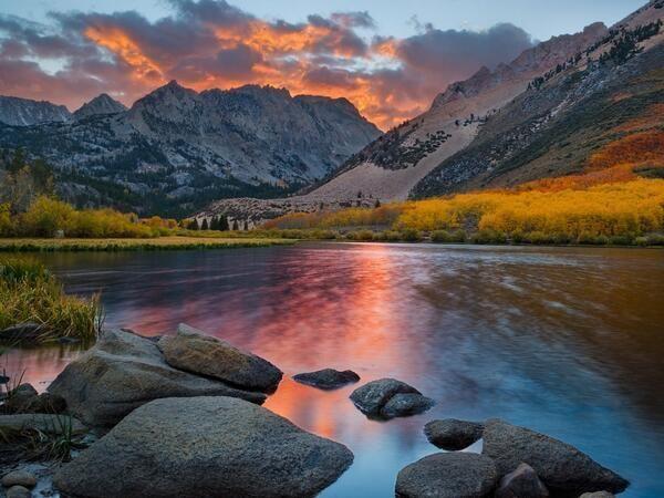Mountain Landscape In California Nature Scenery Green Landscape