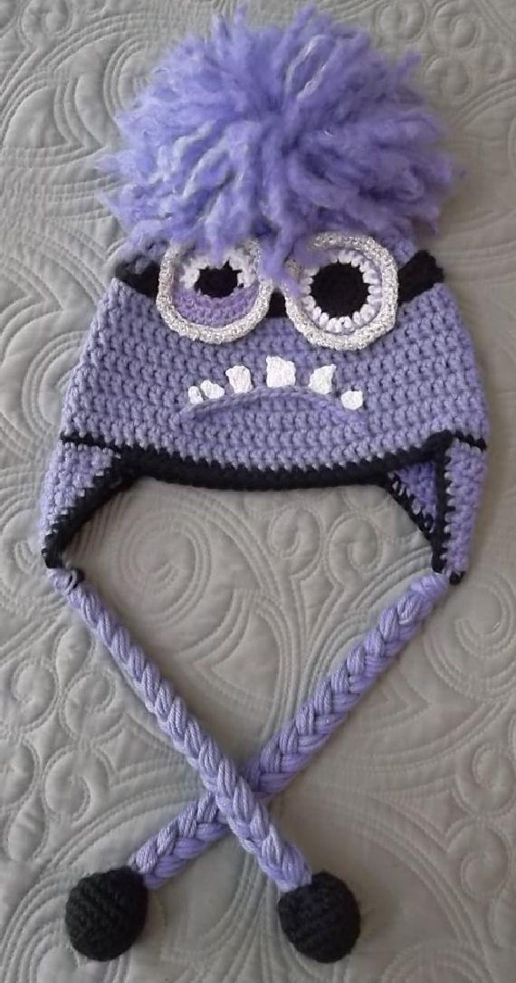 Crocheted Purple Minion Hat | Minions | Pinterest | Gorros, Tejido y ...