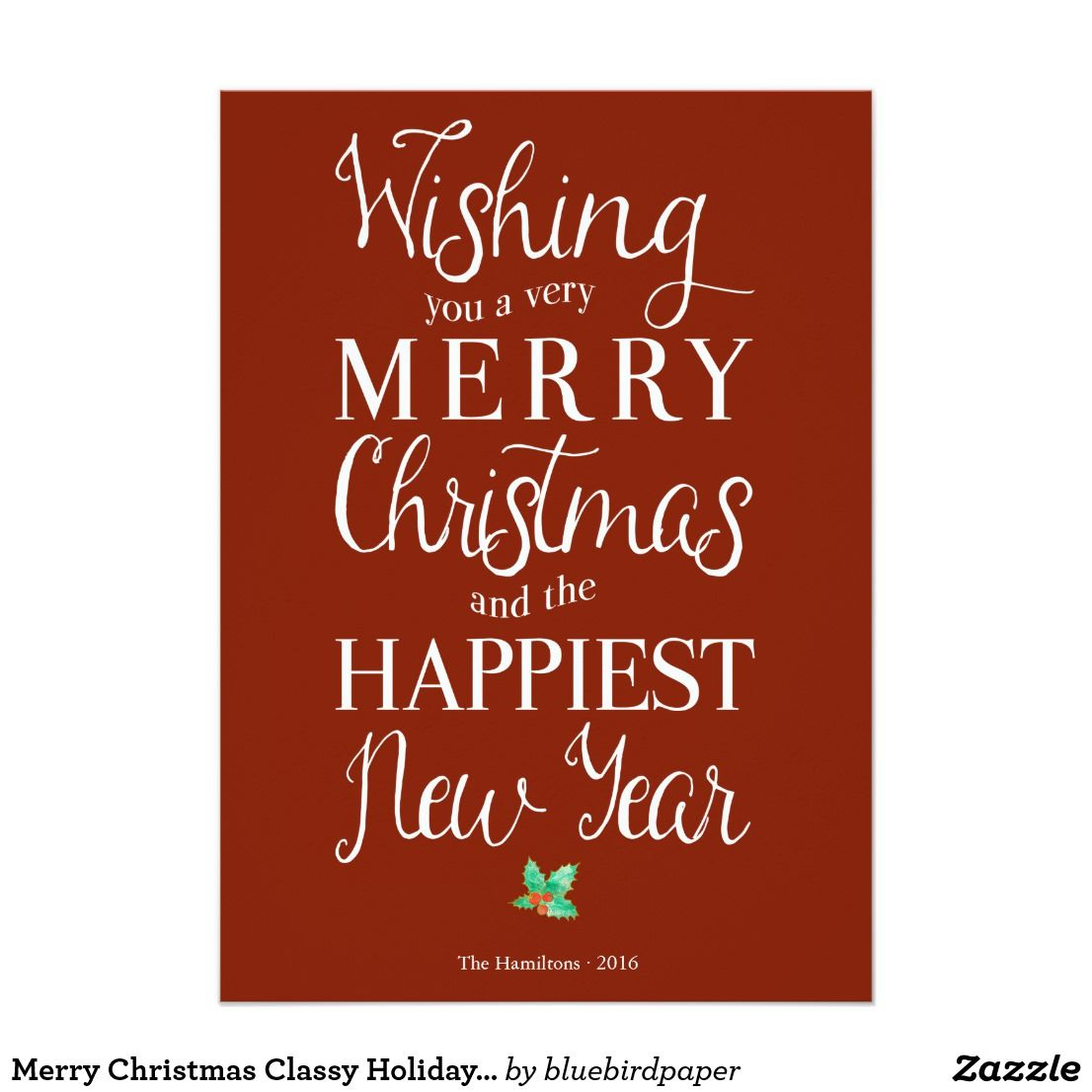 Merry christmas classy holiday photo greeting card photo greeting merry christmas classy holiday photo greeting card m4hsunfo