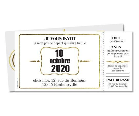 carte invitation depart retraite