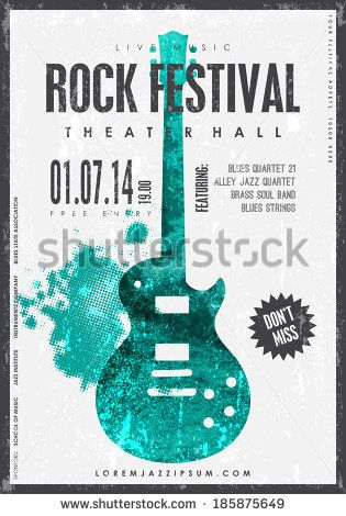Rock Music Poster Background Template Texture Effects Can Be Turned Off