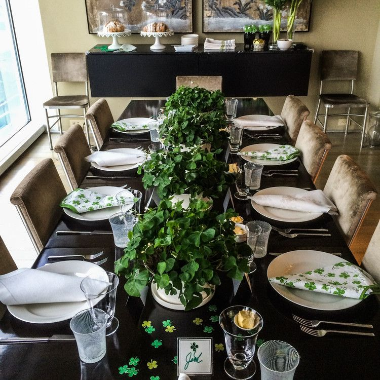 St Patrick S Day Decorations For A Sham Rockin Party St