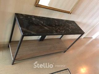 Sidetable Met Marmer.Stellio Interieur Mooie Stalen Sidetable Met Een Marmer