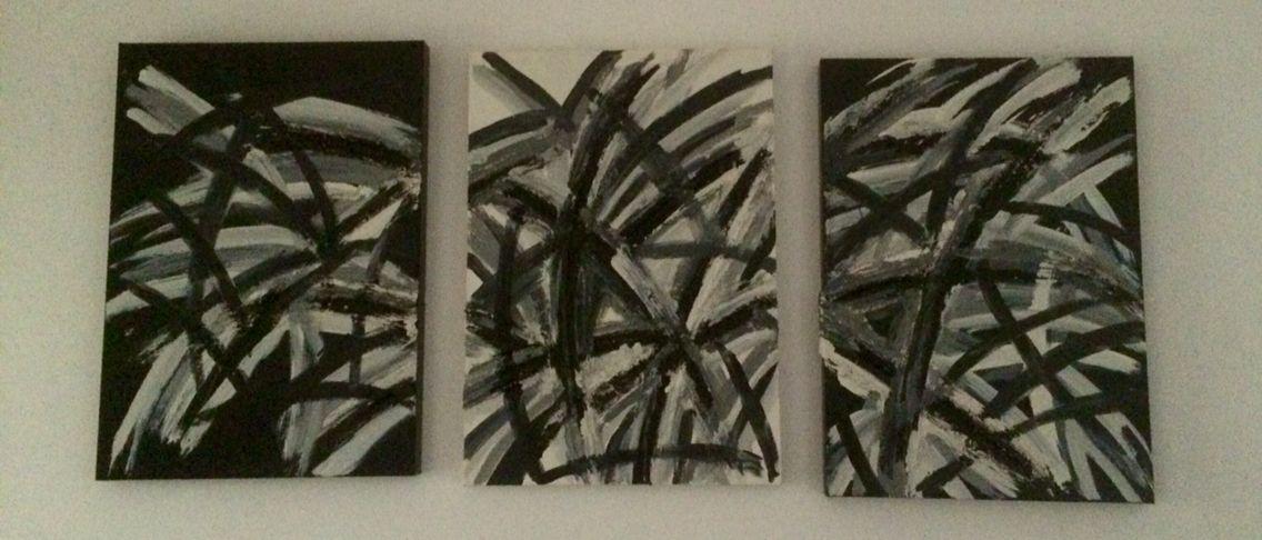 Quadri su tela o tavole di legno con un rilievo di un mix acqua ...