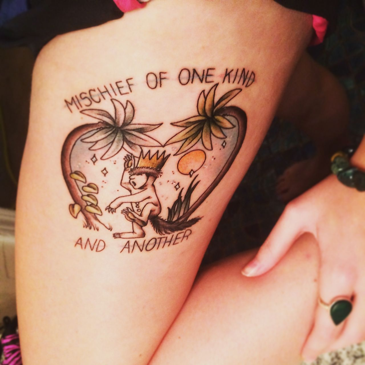 Done by the amazing Betsy Butler (Wets) at Roses and Ruins downtown shop in Charleston, SC.