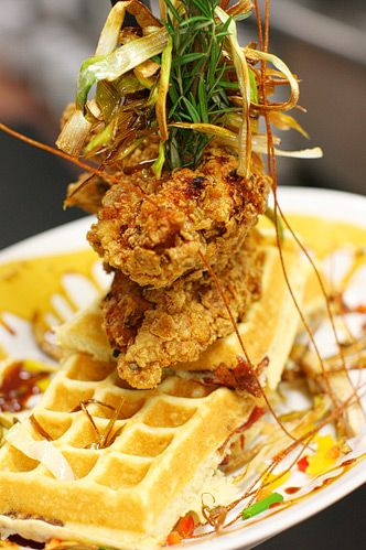 sage fried chicken and waffles - recipe from hash house a go go