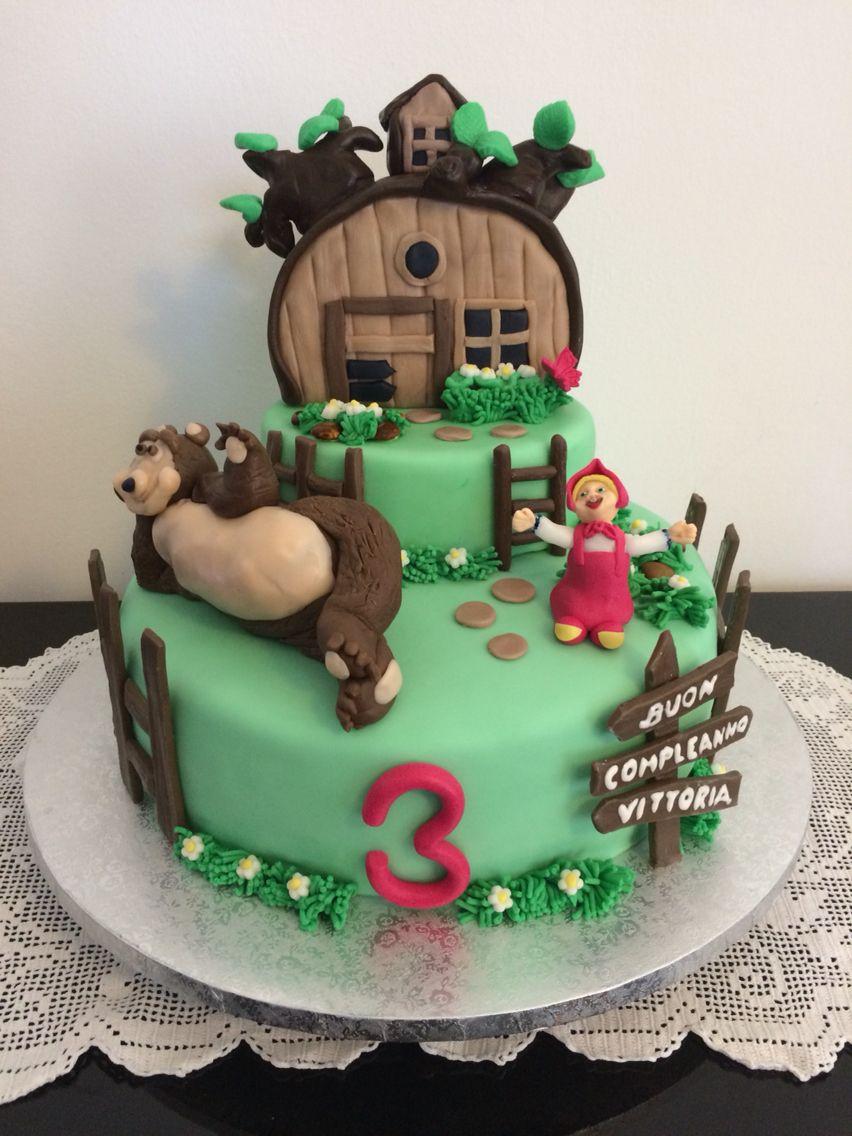 Assez Torta di compleanno Masha e Orso per bimba di tre anni | Cake  GJ16