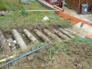 escaliers de jardin en rondins de bois autoconstruction construire sa maison soi mme - Maison A Construire Soi Meme