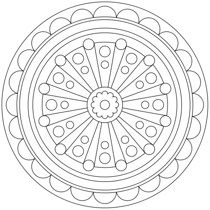 Mandala Ausmalbild Nr 42 Ausmalbilder Mandala Ausmalen Ausmalbilder
