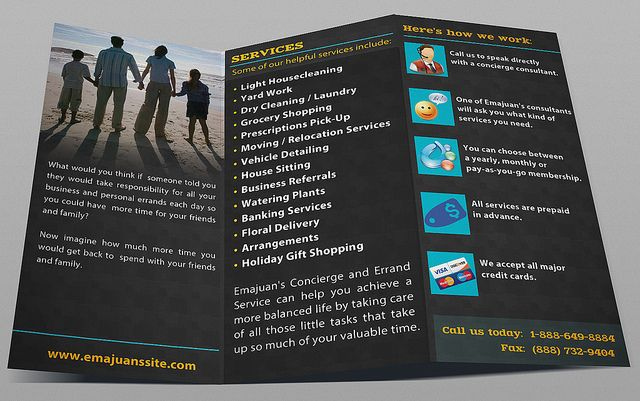 Innovative Tri-fold Brochure Design Designed in Photoshop