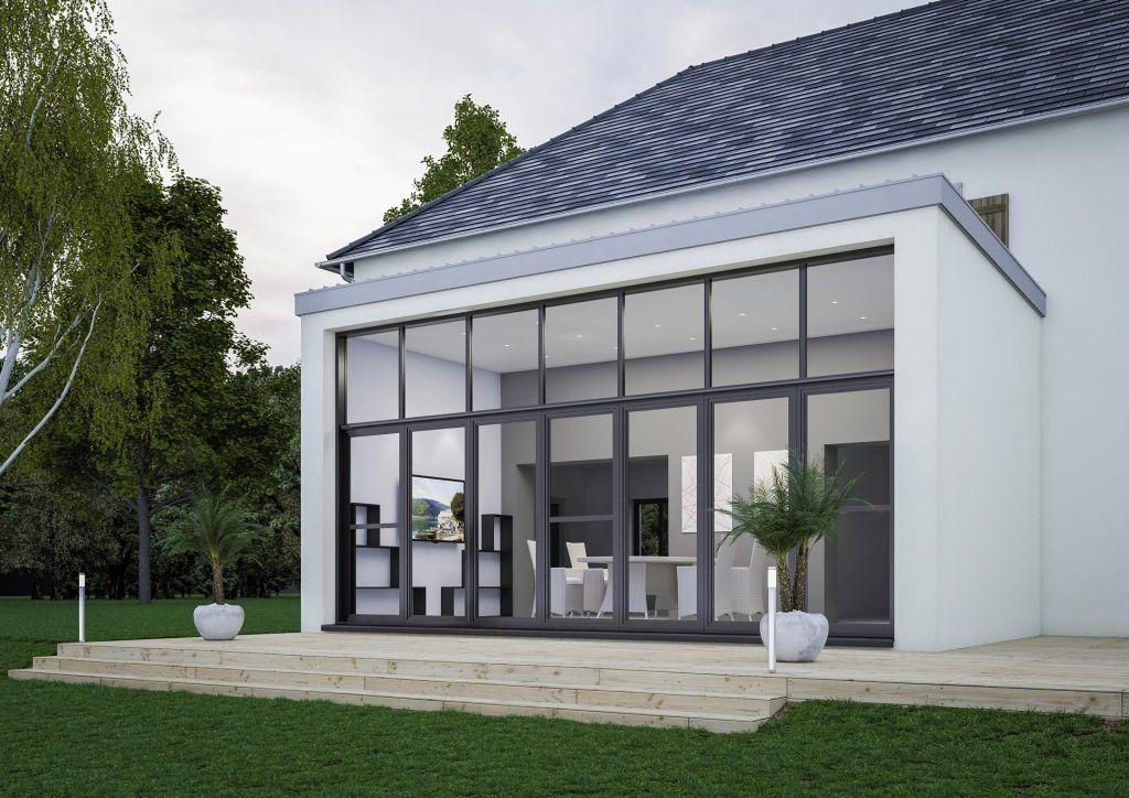 Extension de maison design style véranda  modèle CITY ART NATURE - prix des verandas de maison