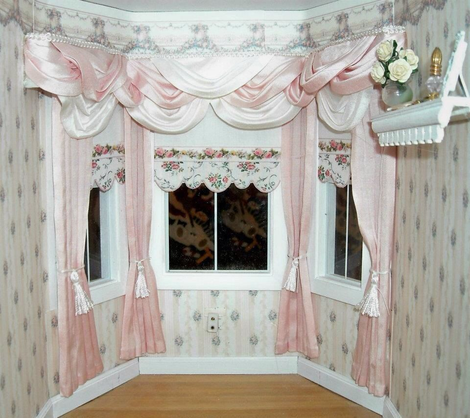 My Handcrafted Dollhouse Miniature Drapes, Curtains and Valances ...