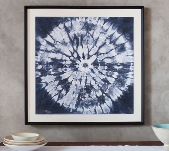 Shibori Circle Framed Print Canvas Art Prints Pottery Barn Decor Framed Prints