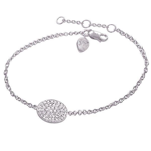 Oval Pave Diamond Disc Bracelet – Meira T Boutique