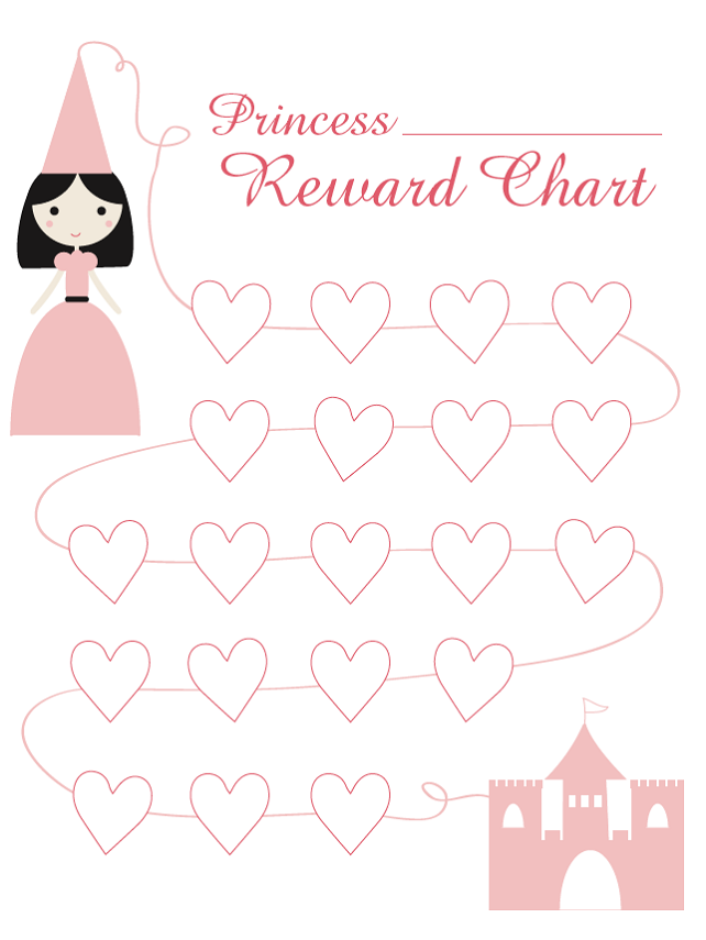 Reward Chart Template Princess Parenting Charts For Kids