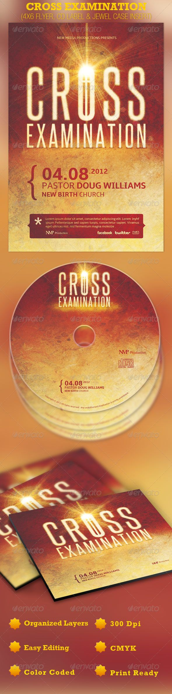 Cross Examination Flyer Cd And Jewel Case  Jewel Gospel Concert