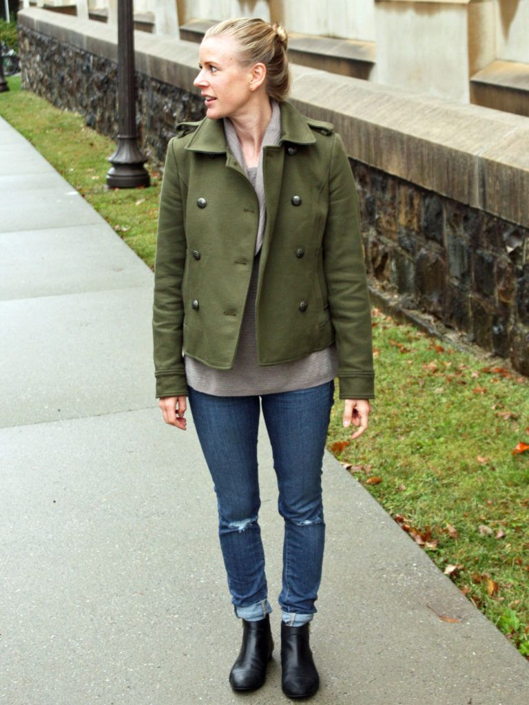 Outfit Ideas | Army Green Peacoat