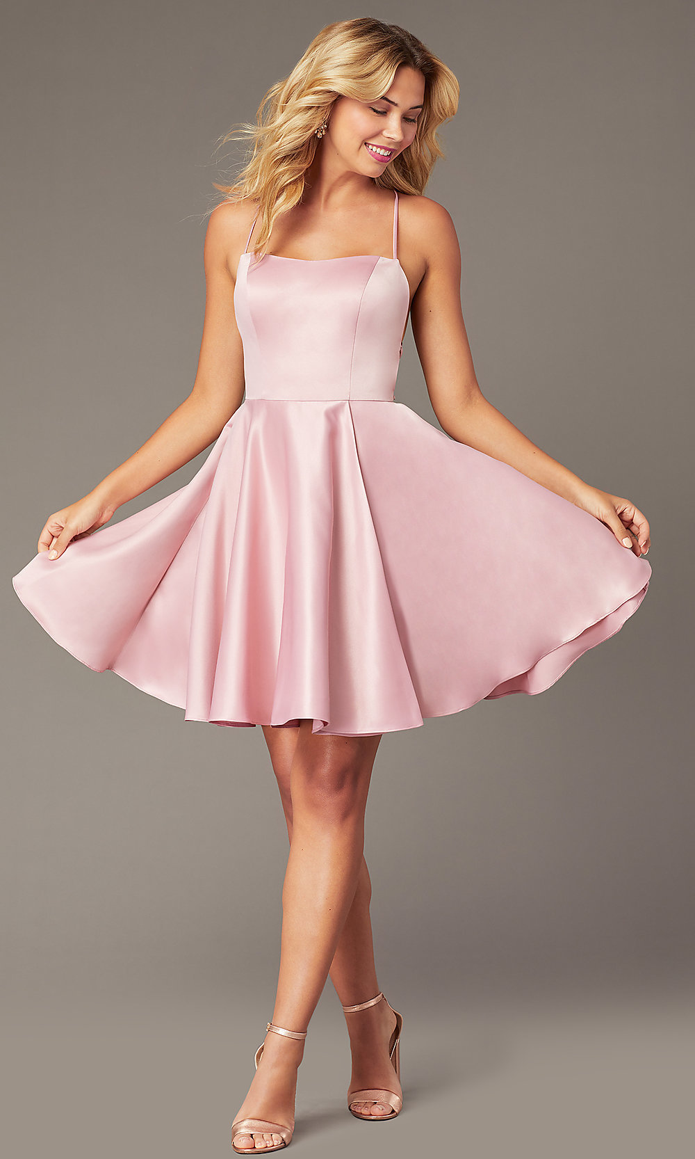 Backless Short Homecoming Party Dress with Corset