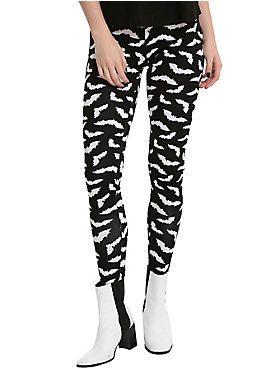 26370783b260d Blackheart Black & White Bat Leggings | Fashion--Gothic, Off-Beat ...