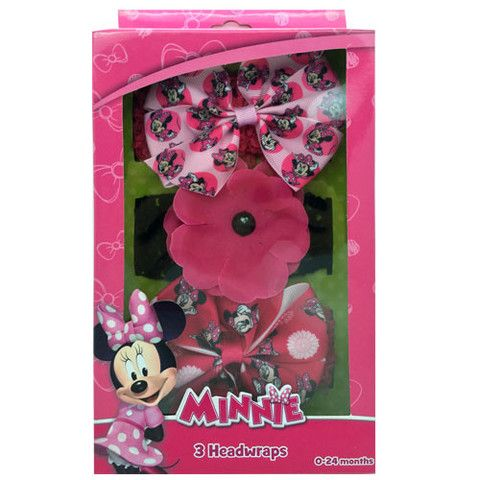 mm1070-LA - Minnie Mouse headwrap w/ grosgrain bow (Available Now)