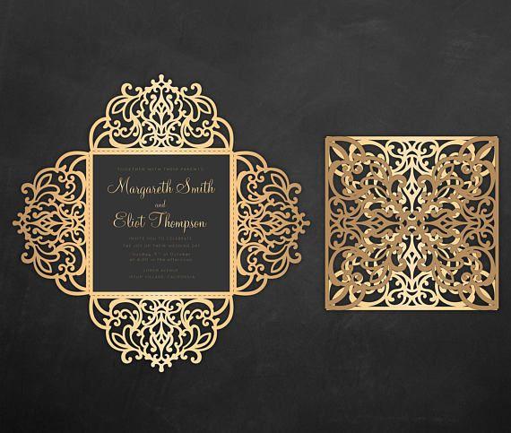Software Wedding Invitations: Wedding Invitation Four Fold