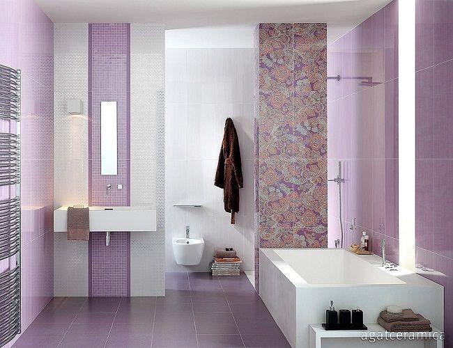 11 mozaic lila decor vertical lavoar baie combinat cu for Modele bai dedeman