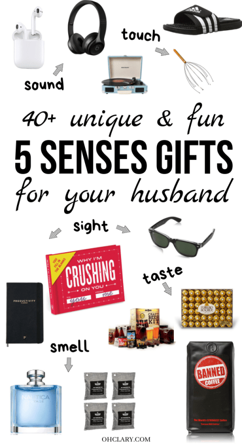 5 Senses Gifts For Husbands Who Love Unique And Creative Presents This List Of 40 5