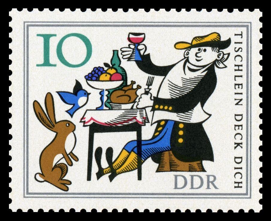 Stamps Of Germany Ddr 1966 Marchen Tischlein Deck Dich Briefmarken Jahrgang 1966 Der Deutschen Post Der Ddr Briefmarken Ddr Briefmarken Poster