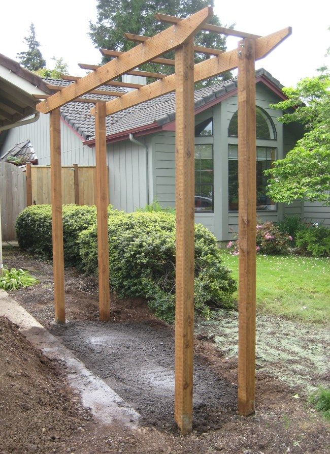Marvelous Free Standing Trellis Ideas Part - 5: Free Standing Trellis For Along Fence Line.