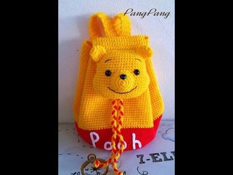 Mochila o Morral de WINNIE POOH tejido a crochet o ganchillo PARTE 2 - YouTube