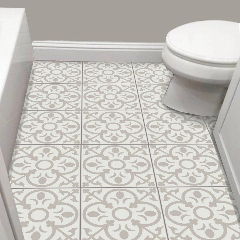 Tile Sticker Kitchen Bath Floor Wall Waterproof Removable Etsy In 2020 Tile Stickers Kitchen Wall Waterproofing Tiles