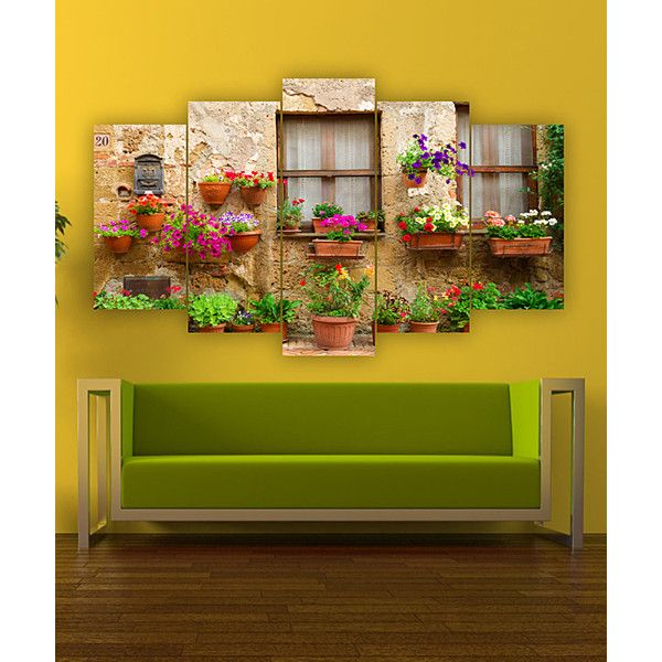 Carsberg Home Floral Planter Garden Five-Panel Wall Art ($30 ...