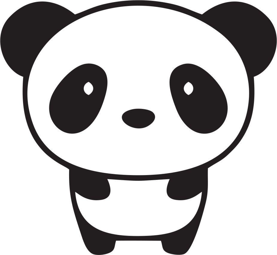 cute baby panda bear custom made cell phone iphone vinyl decal