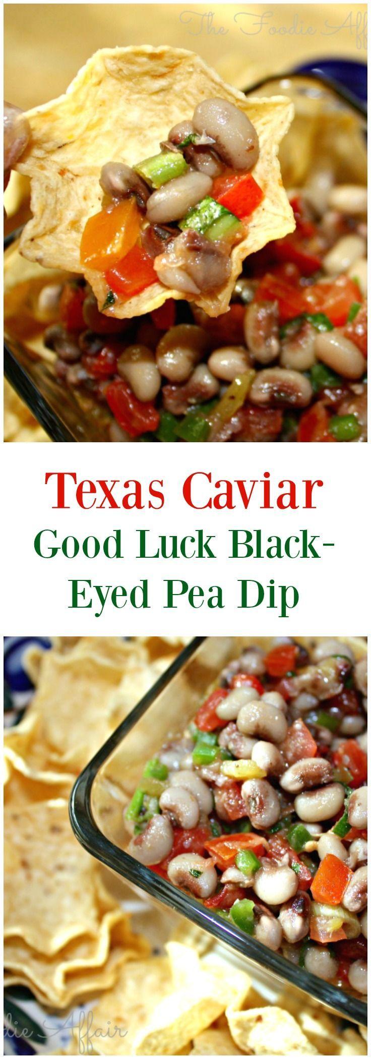 Texas Caviar, Good Luck BlackEyed Pea Dip Recipe Diy