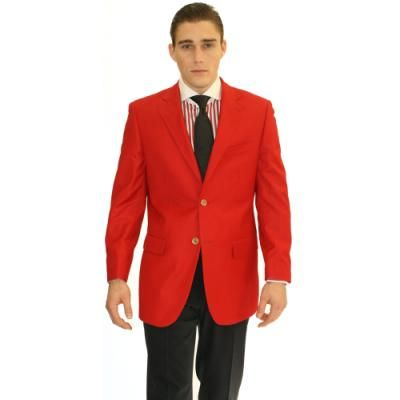 $61, Red Blazer: Ferrecci Ferecci Red 2 Button Blazer. Sold by Overstock. Click for more info: http://lookastic.com/men/shop_items/97429/redirect