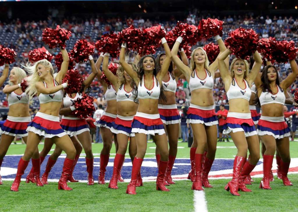 8269baaac309b The Houston Texans cheerleaders perform before an NFL football game Sunday…