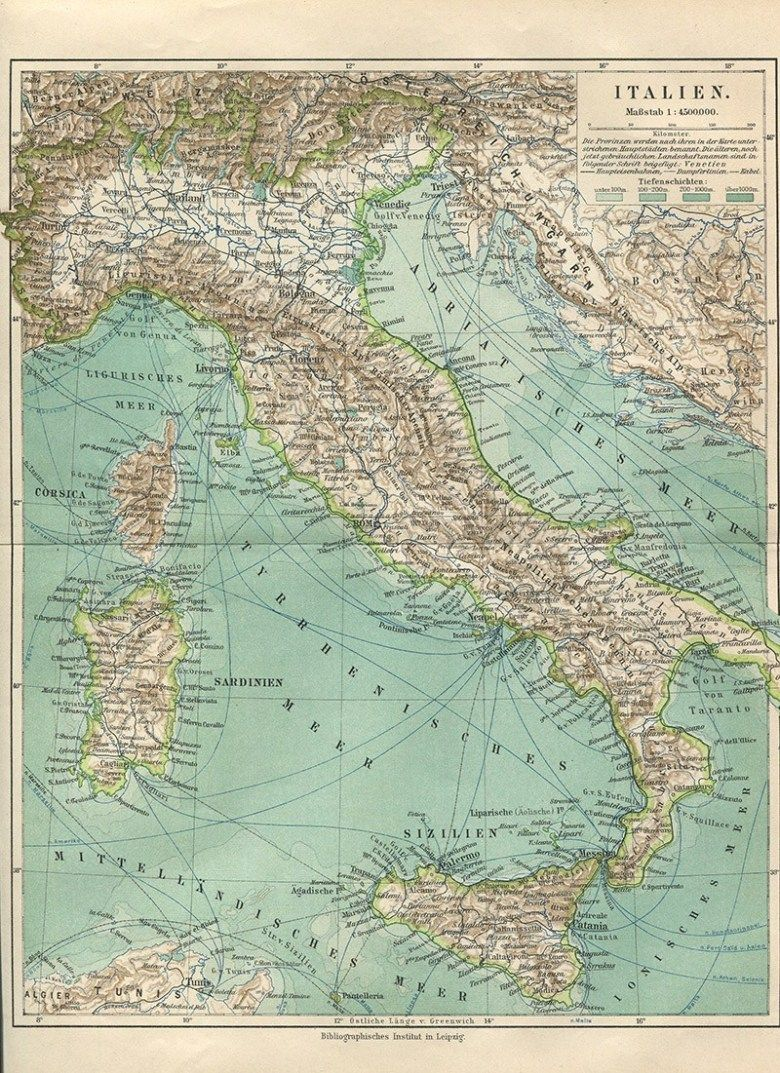 More Gorgeous Free Vintage Maps Of Europe Picture Box Blue