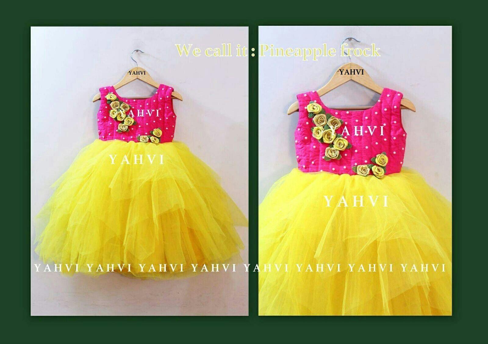 Yahvi luxury designer kids wear kashvi birthday dress
