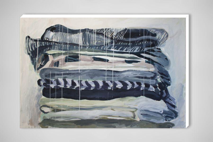 "Tanya Kirichenko -  Acrylic, 2010 ""Striped pile"""