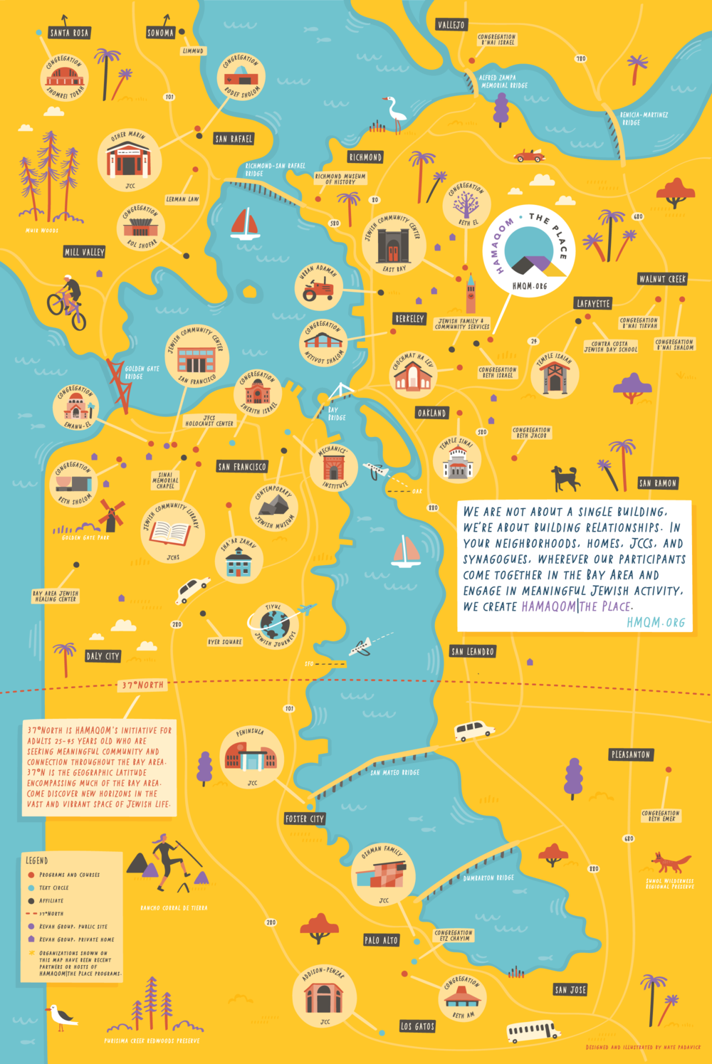 Illustrated Map Of San Francisco Bay Area Jewish Organizations Nate Padavick Illustrated Map San Francisco Map San Francisco Map Illustration Links to the bay area news group articles about the crimes are. illustrated map of san francisco bay