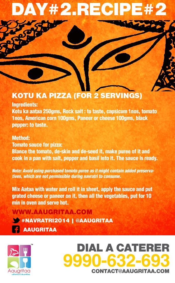 Day 2 of our #navratri2014 campaign. Recipe no2. #Pizza made out of #buckwheat. follow@aaugritaa to know more