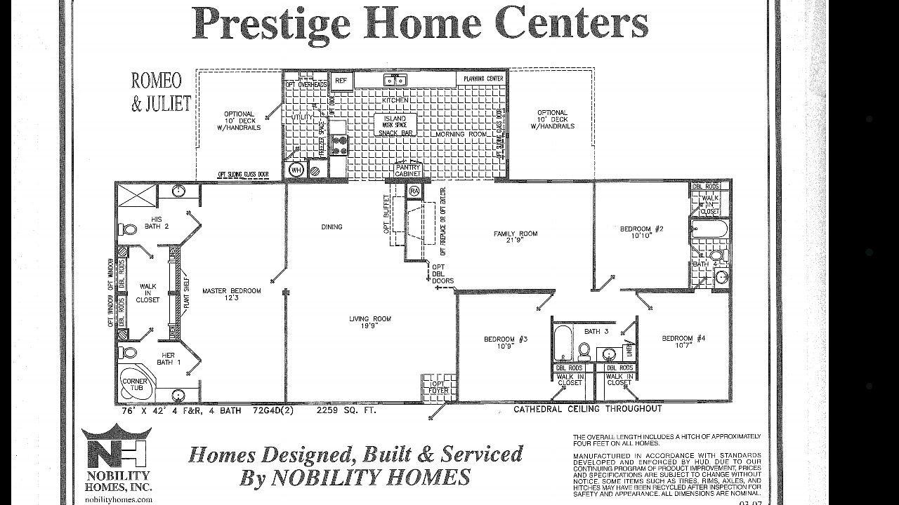 42x72 triple nice house mobile home floor plans house