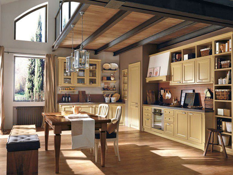 LACQUERED FITTED KITCHEN GAIOLE MARTINI from archi products - cocinas italianas