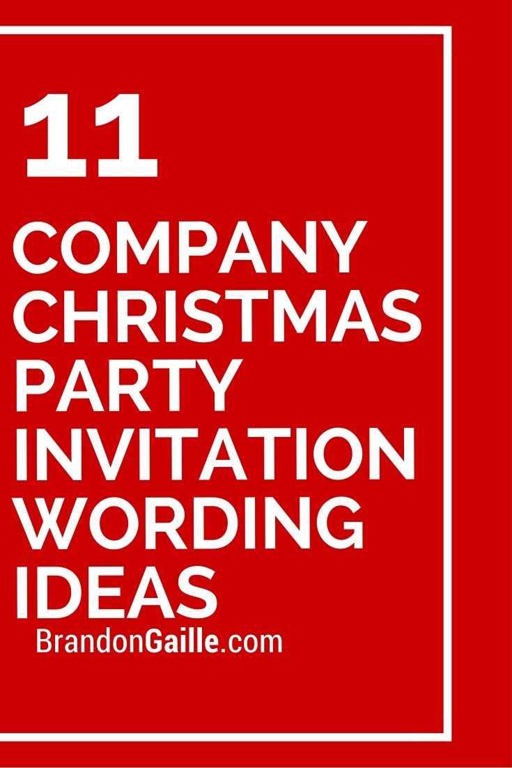 11 Company Christmas Party Invitation Wording Ideas | Party ...