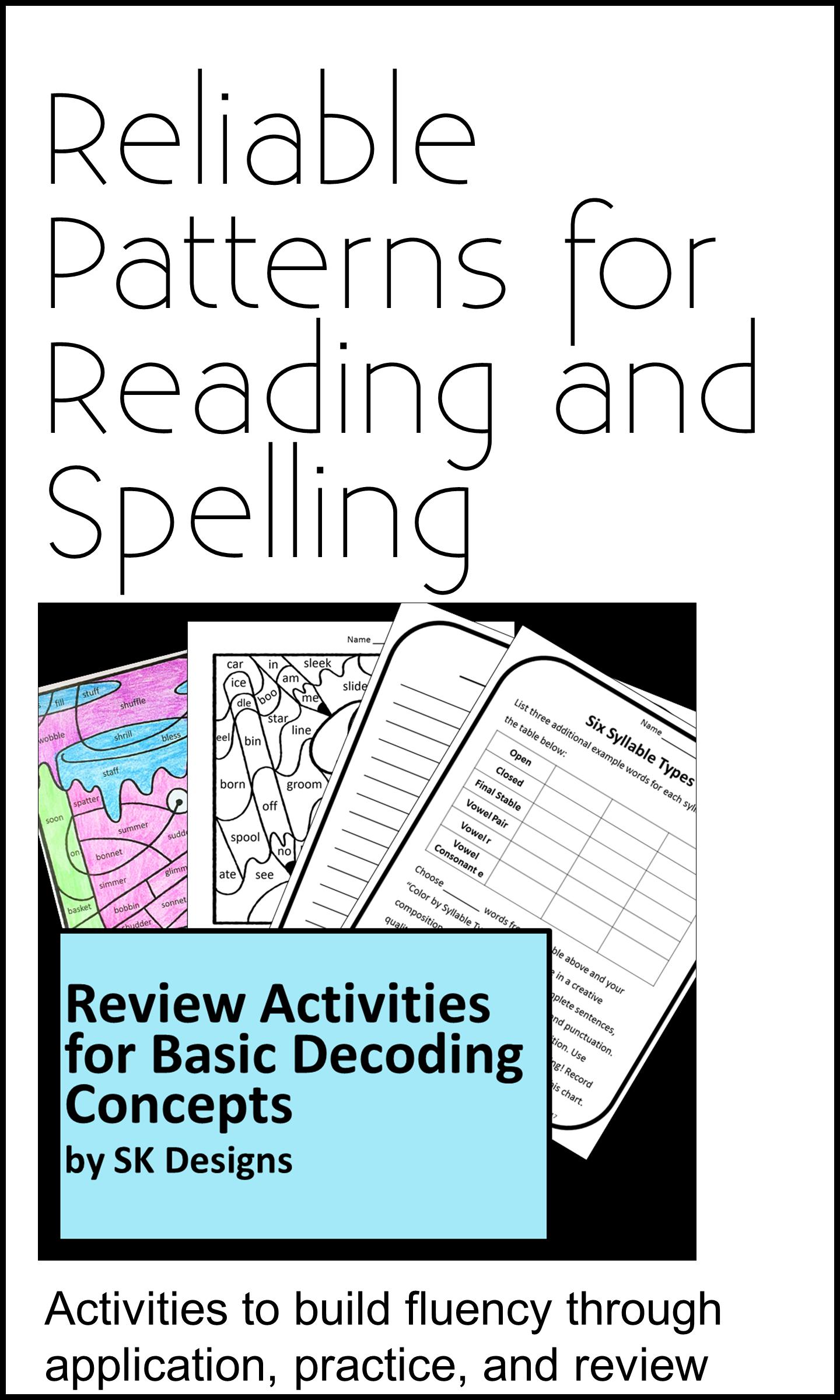 Decoding Concepts Review Activities For Classroom Home