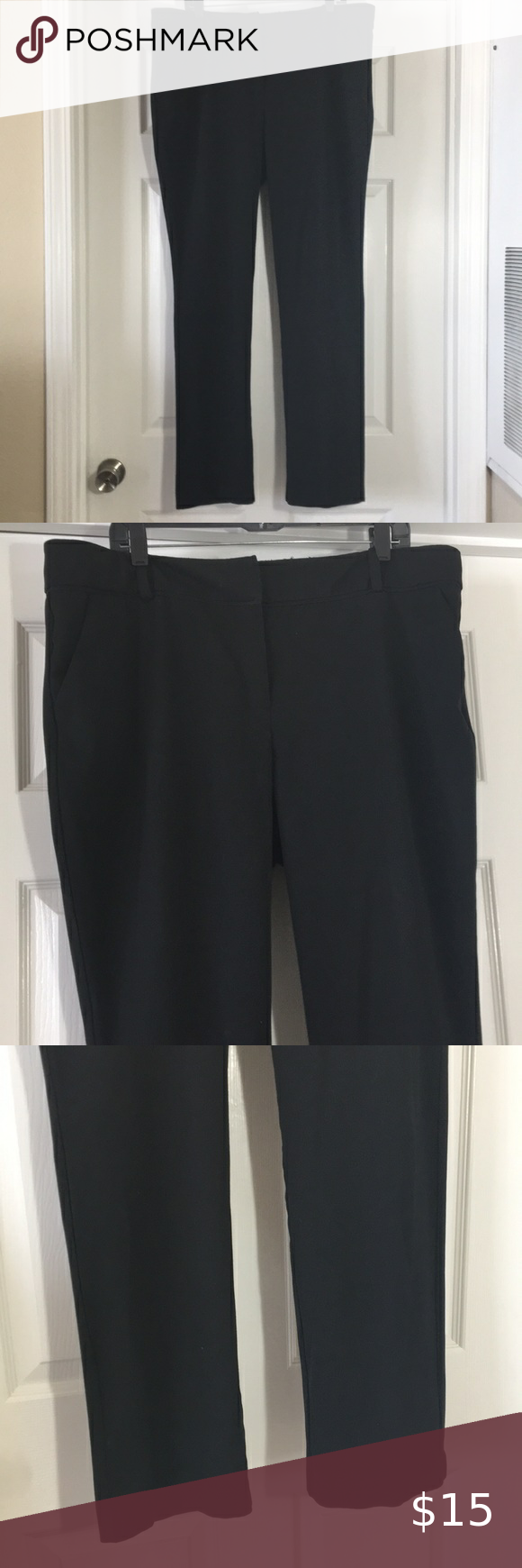 Ny Co 7th Avenue 18 Tall Black Dress Pants Dress Pants Black Dress Pants Dress Trousers [ 1740 x 580 Pixel ]